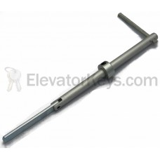 Hoistway Door Key, Aluminum Shaft, for G.A.L. MO-Lock