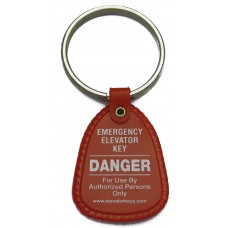 Key Tag, DANGER, Emergency Elevator Key